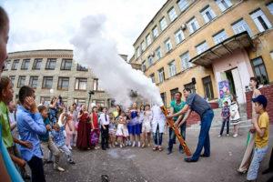 шоу с жидким азотом в Тамбове, аниматоры Тамбов, детский день рождения в Тамбове, Изюм праздник