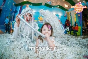 бумажная дискотека на детский день рождения, бумажное шоу в тамбове